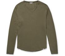Michael Waffle-knit Cotton T-shirt