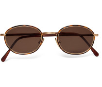 1995 Ltd Vintage Round-frame Acetate And Gold-tone Sunglasses