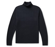 Ribbed Wool and Cashmere-Blend Rollneck Sweater