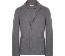 Anthracite Slim-fit Mélange Jersey Blazer