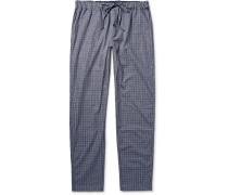 Checked Cotton Pyjama Trousers