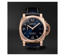 Luminor Marina Sole Blu Automatic 44mm Goldtech and Alligator Watch, Ref. No. PAM01112