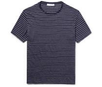 Striped Linen-jersey T-shirt