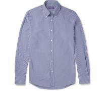 Cameron Slim-fit Button-down Collar Gingham Cotton Shirt