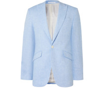 Woodcroft Newport Slim-Fit Unstructured Linen-Twill Suit Jacket