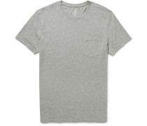 Broken-in Mélange Cotton-jersey T-shirt