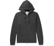 Brushed Loopback Cotton-jersey Zip-up Hoodie