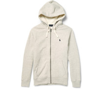 Marl Cotton-blend Zip-up Hoodie