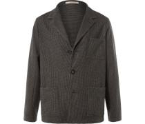 Grey Baglietto Puppytooth Wool Blazer