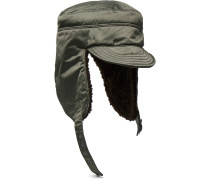 Fleece-lined Satin Trapper Hat