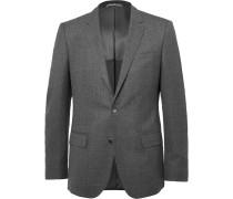 Grey Slim-fit Virgin Wool Blazer