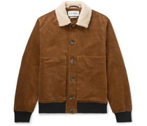 Linfield Faux Shearling-Trimmed Cotton-Blend Corduroy Bomber Jacket