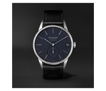 Orion Neomatik Datum Automatic 41mm Stainless Steel and Cordovan Leather Watch, Ref. No. 363