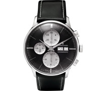 Meister Chronoscope 40mm Stainless Steel And Leather Watch