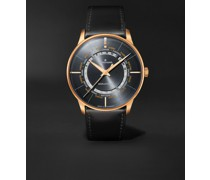 Meister Worldtimer Automatic 40.4mm PVD-Coated Stainless Steel and Leather Watch, Ref. No. 027/5013.02