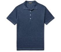 Mélange Linen Polo Shirt