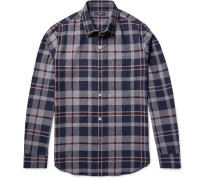 Rammis Slim-fit Checked Cotton Shirt