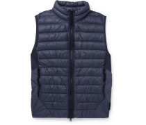 Quilted Coated Garment-dyed Shell Down Gilet