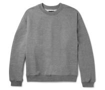 Mélange Loopback Cotton-blend Jersey Sweatshirt