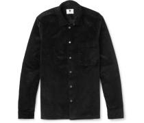 Basso Stretch-cotton Corduroy Shirt