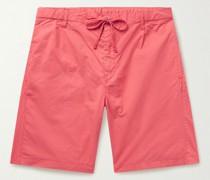 Tank Pleated Cotton-Twill Drawstring Shorts