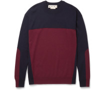 Slim-fit Colour-block Cashmere Sweater