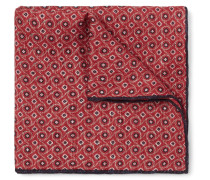 Printed Linen And Cotton-blend Pocket-square
