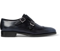 William 75 Polished-Leather Monk-Strap Shoes