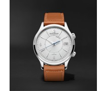 Master Control Memovox Automatic 40mm Stainless Steel and Leather Watch, Ref. No. Q4118420