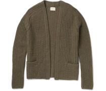 Ribbed-knit Alpaca-blend Cardigan