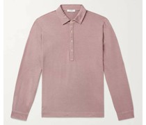 Cotton and Cashmere-Blend Polo Shirt
