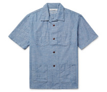 Cayman Camp-collar Cotton-chambray Shirt