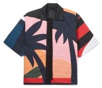 Paradise Camp-collar Quilted Cotton-cloqué Shirt