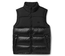 Regen Slim-Fit Logo-Embroidered Quilted Down Shell Gilet