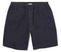 Garment-dyed Cotton-ripstop Drawstring Shorts