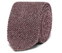 6cm Mélange Knitted Silk Tie