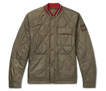 Haverford Stripe-trimmed Quilted Shell Bomber Jacket