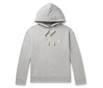 Jason Logo-Print Mélange Loopback Cotton and Modal-Blend Jersey Hoodie