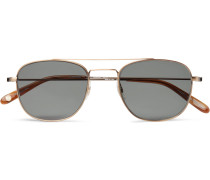 Club House 50 Aviator-style Acetate And Gold-tone Sunglasses