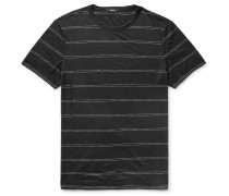 Gaskell Slim-fit Striped Modal-blend Jersey T-shirt