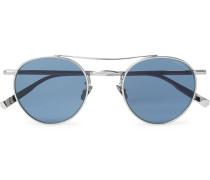 + Rimowa Wilson 49 Limited Edition Round-Frame Silver-Tone Sunglasses