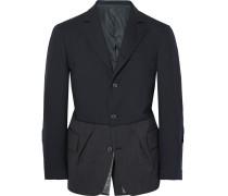 Slim-fit Herringbone Wool Blazer