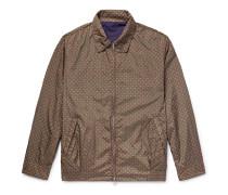 Reversible Cotton And Printed Nylon Blouson Jacket