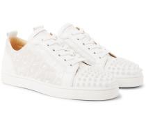 Louis Junior Spikes Printed Leather Sneakers