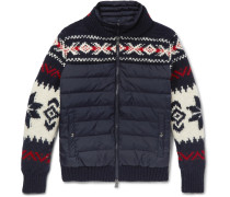 Fair Isle Wool-blend And Quilted Shell Down Jacket With Detachable Liner