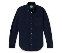Slim-Fit Button-Down Collar Cotton-Corduroy Shirt