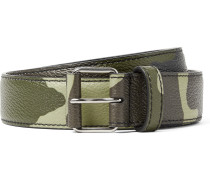 3cm Camouflage-print Full-grain Leather Belt