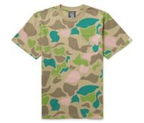 Logo-Appliquéd Camouflage-Print Cotton-Jersey T-Shirt