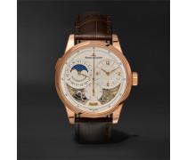 Duomètre à Quantième Lunaire 42mm 18-karat Rose Gold And Alligator Watch
