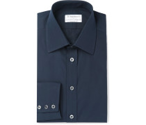 + Turnbull & Asser Blue Cotton-poplin Shirt